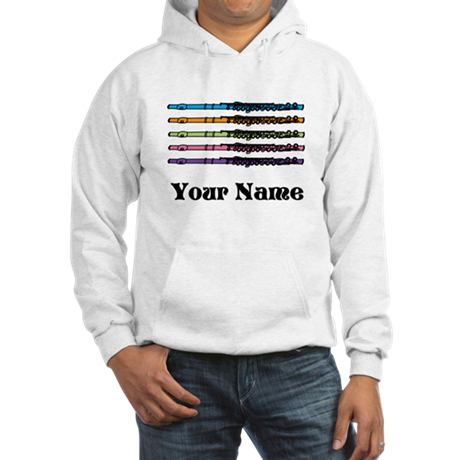 Personalized Flute Music Hooded Sweatshirt