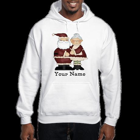 Custom Santa and Mrs. Clause Hooded Sweatshirt
