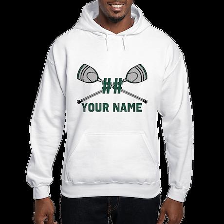 Personalized Crossed Goalie Lacrosse Sticks Green