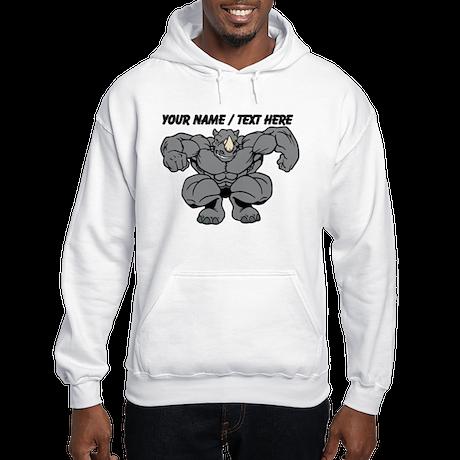 Custom Rhino Mascot Hoodie