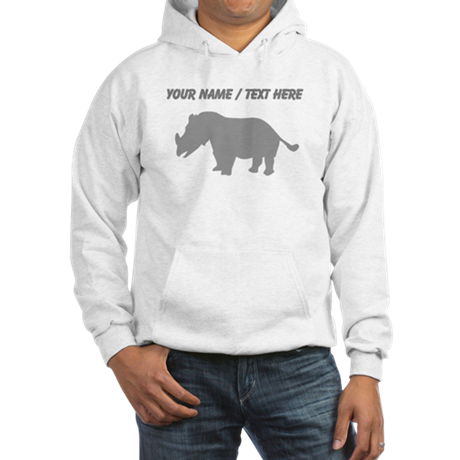 Personalized Baby Rhino Silhouette Hoodie