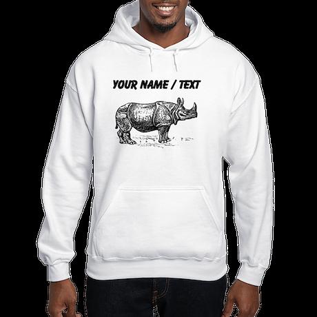 Custom Rhino Sketch Hoodie