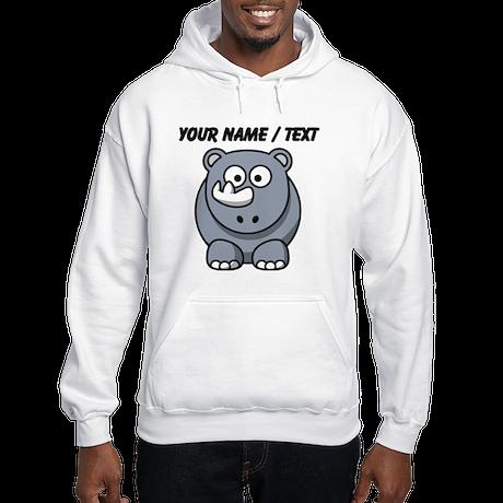 Custom Cartoon Baby Rhino Hoodie