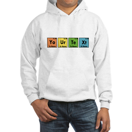 Personalized Your Text Periodic Hooded Sweatshirt
