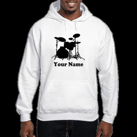 Personalized Drums Hooded Sweatshirt