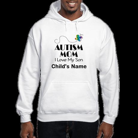 Personalized Autism Mom Hooded Sweatshirt