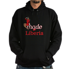 Funny Made in liberia Hoodie (dark)