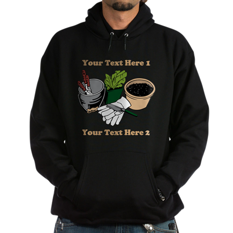 Gardening. Custom Text Hoodie (dark)