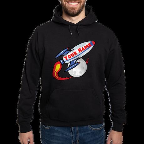 Personalized rocket Hoodie (dark)