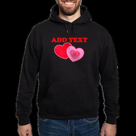 Valentine's Day Hearts Hoodie (dark)