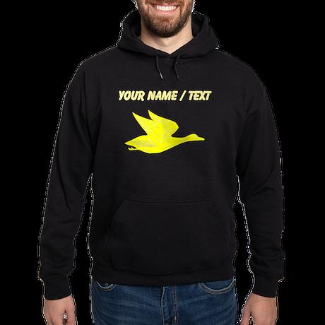 Custom Yellow Flying Duck Silhouette Hoody