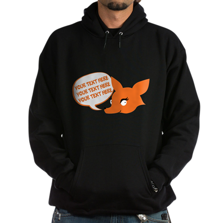 CUSTOM TEXT Cute Fox Hoodie
