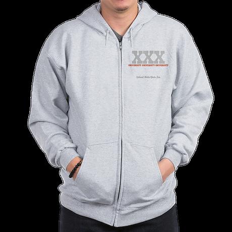 Custom College (orange/grey) Zip Hoodie