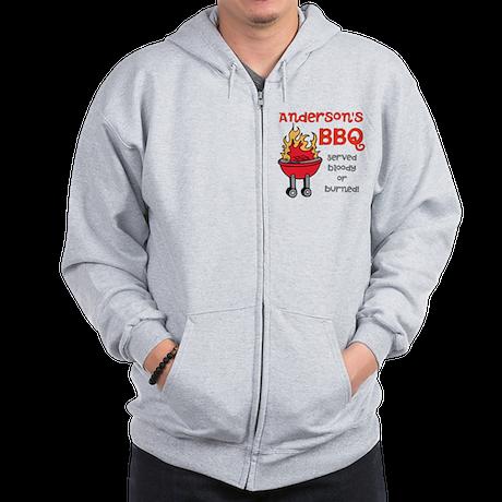 Personalized BBQ Zip Hoodie