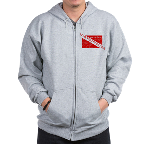 YOUR TEXT FADED DIVE FLAG Zip Hoodie
