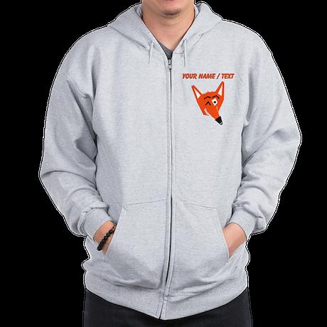 Custom Winking Fox Zip Hoody