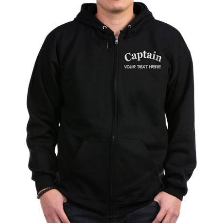 CUSTOMIZABLE CAPTAIN Zip Hoodie (dark)