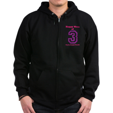 Personalized Mother Zip Hoodie (dark)