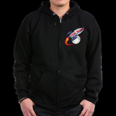 Personalized rocket Zip Hoodie (dark)