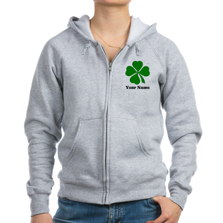 Personalized St Patrick's Day Women's Zip Hoodie
