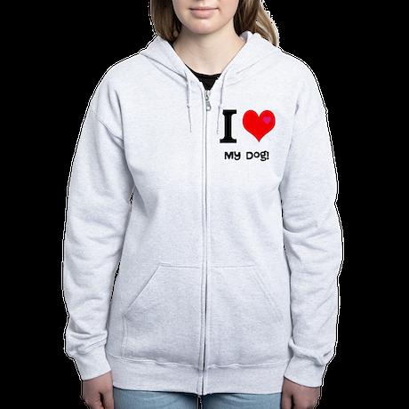 Personalised I Love... Women's Zip Hoodie