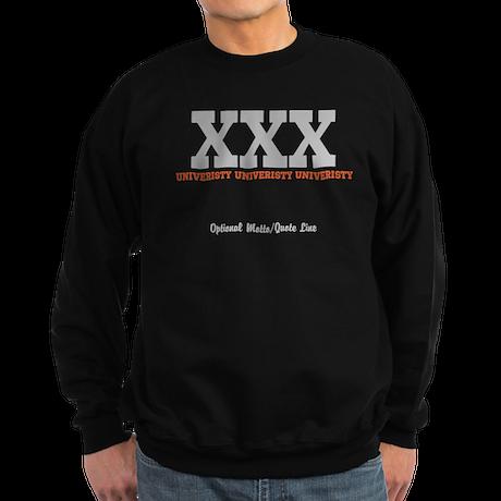 Custom College (orange/grey) Sweatshirt (dark)