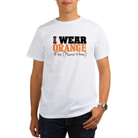 Custom I Wear Leukemia Organic Men's T-Shirt