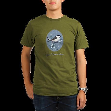Black Capped Chickadee Bird Oval T-Shirt