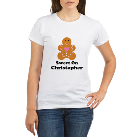 Personalized Christmas Couples Organic Women's T-S