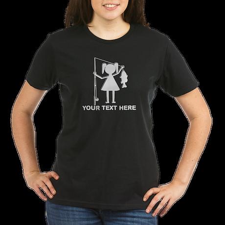 CUSTOMIZABLE REEL GIRL Organic Women's T-Shirt (da