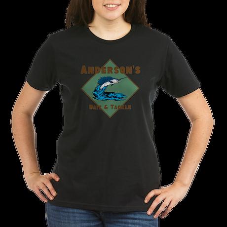 Personalized fishing Organic Women's T-Shirt (dark
