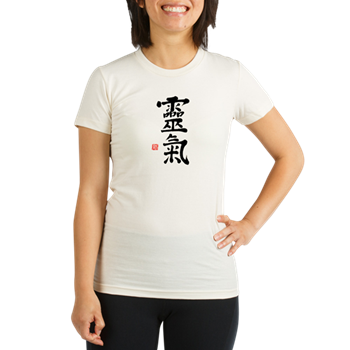 Kanji Reiki Symbols Organic Women's Fitted T-Shirt