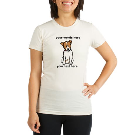 Jack Russell - Custom Organic Women's Fitted T-Shi