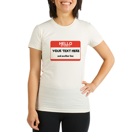 HELLO Organic Women's Fitted T-Shirt
