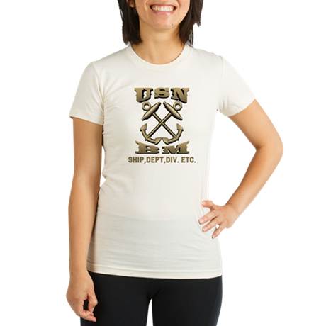 Personalized BM Front & Back Organic Women's Fitte