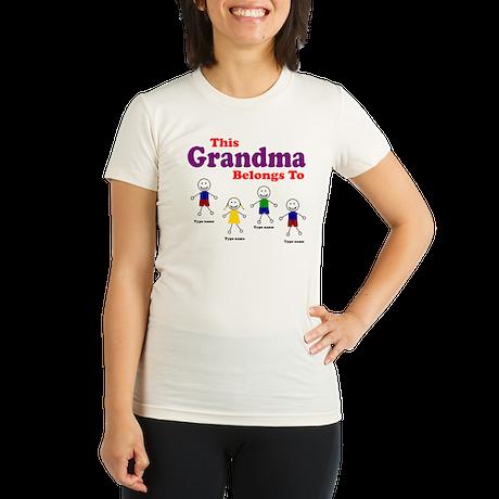 Personalized Grandma 4 kids Organic Women's Fitted