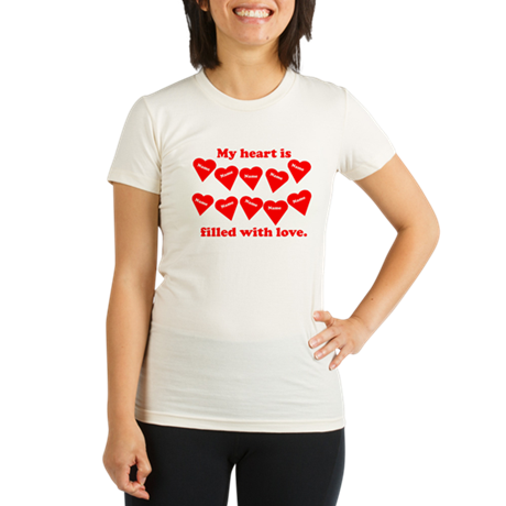 Personalized My Heart Filled Organic Women's Fitte