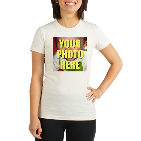 Custom Photo Organic Women's Fitted T-Shirt