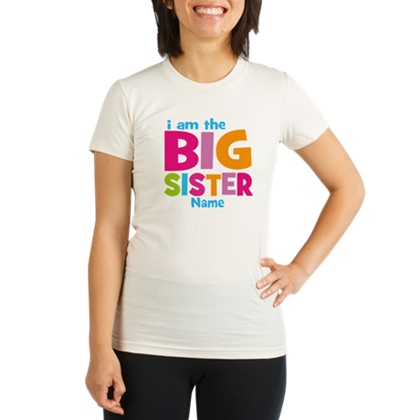Big Sister Personalized Organic Women's Fitted T-S