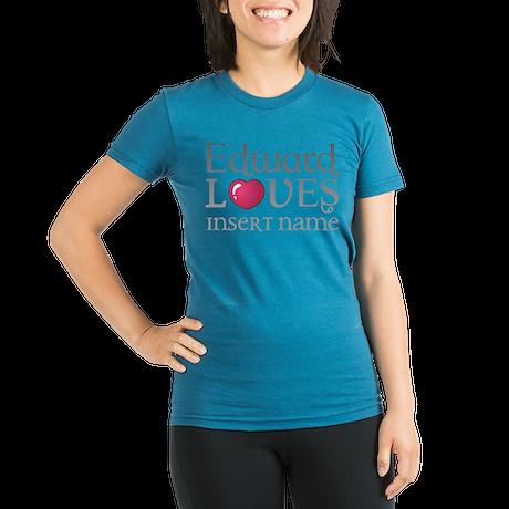 Edward Loves Organic Women's Fitted T-Shirt (dark)