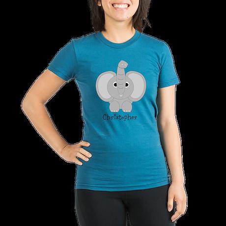 Personalized Elephant Design Organic Women's Fitte