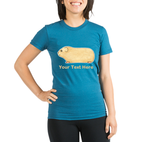 Guinea Pig. Add Your Text. Organic Women's Fitted