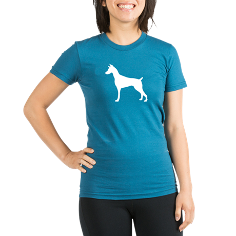 Doberman Organic Women's Fitted T-Shirt (dark)