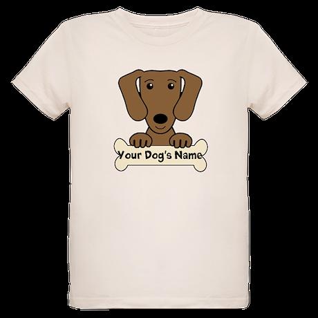 Personalized Dachshund Organic Kids T-Shirt