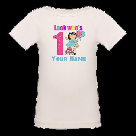First Birthday Girl Organic Baby T-Shirt