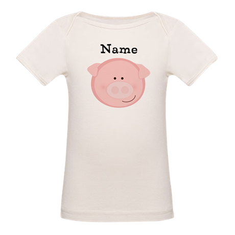 Personalized Pig Organic Baby T-Shirt