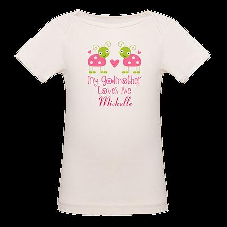 Personalized Godmother Loves Me Ladybug T-Shirt