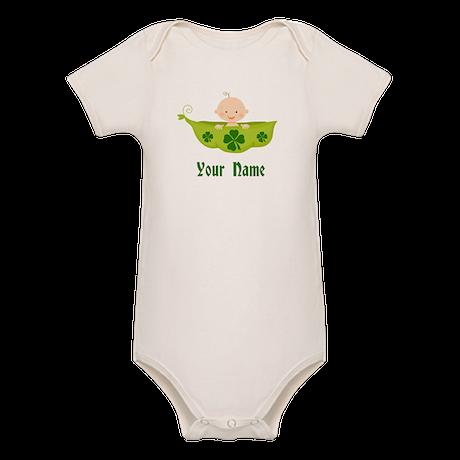 Personalized St Patricks Baby Organic Baby Bodysui