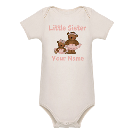 Little Sister Ballet Personalized Organic Baby Bod