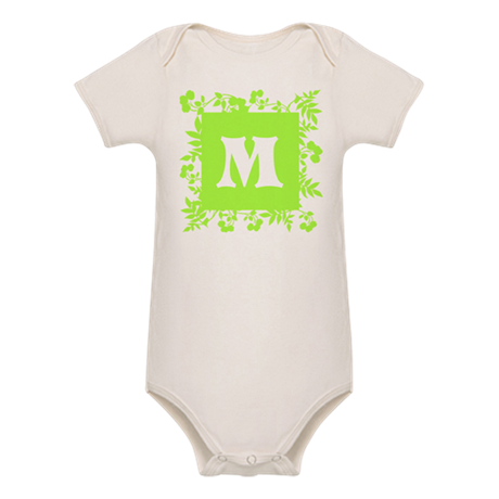 Plants and Letter M. Body Suit
